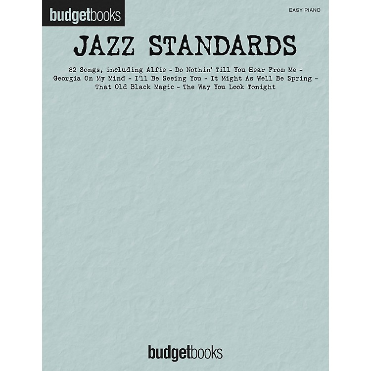 Hal Leonard Jazz Standards - Budget Book Series For Easy Piano