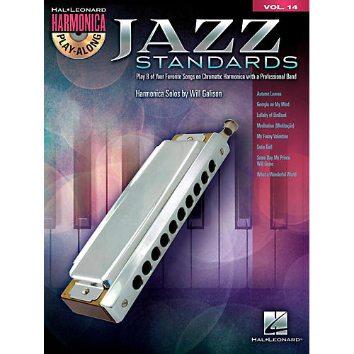 Hal Leonard Jazz Standards - Harmonica Play-Along Volume 14 Book/CD (Chromatic Harmonica)-thumbnail