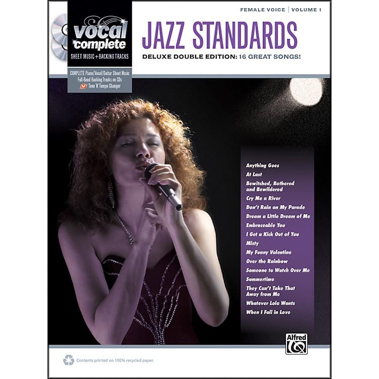 AlfredJazz Standards Female Voice  - Book & 2 CDs