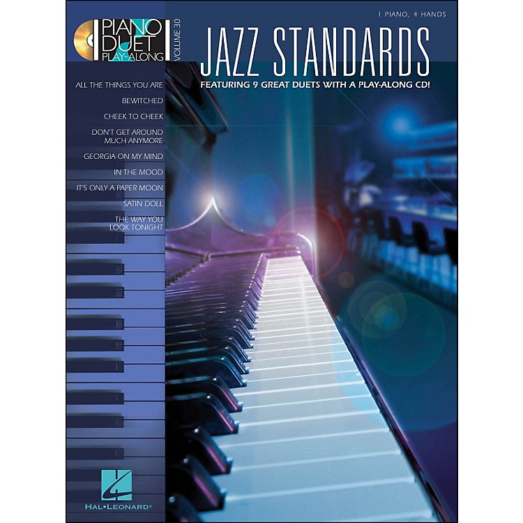 Hal LeonardJazz Standards Piano Duet Play-Along Volume 30 Book/CD