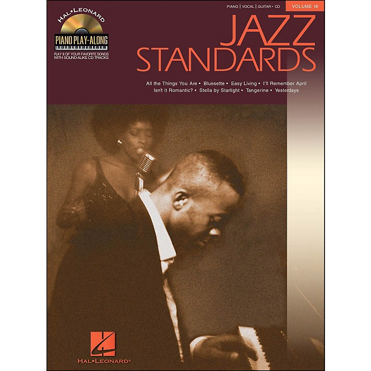 Hal Leonard Jazz Standards Piano Play-Along Volume 18 Book/CD arranged for piano, vocal, and guitar (P/V/G)