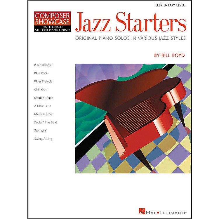Hal Leonard Jazz Starters Piano Solos Early Elementary Hal Leonard Student Piano Library by Bill Boyd