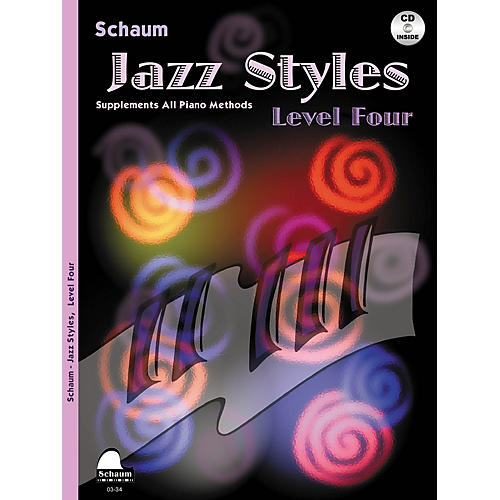 SCHAUM Jazz Styles (Level Four Book/CD) Educational Piano Book with CD by John Revezoulis-thumbnail