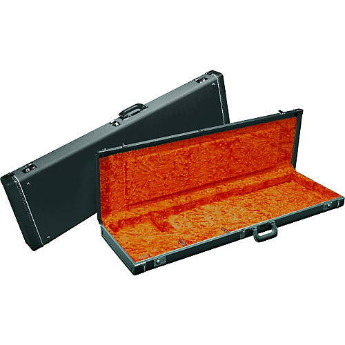 Fender Jazzmaster Hardshell Case Black Orange Plush Interior