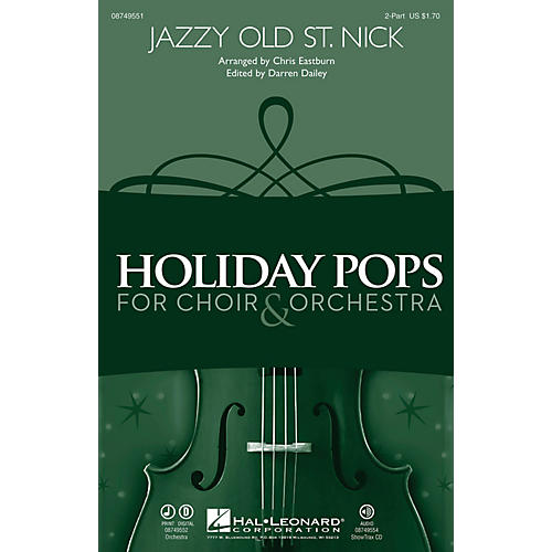 Hal Leonard Jazzy Old St. Nick 2-Part arranged by Chris Eastburn-thumbnail