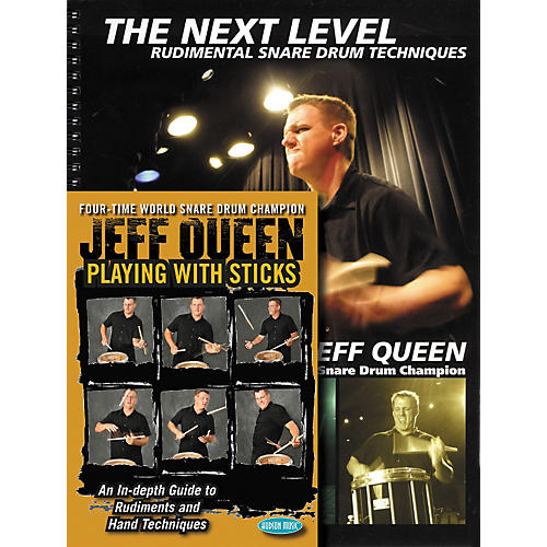 Hudson Music Jeff Queen - Playing With Sticks and The Next Level - Snare Drum Book and DVD Combo Pack