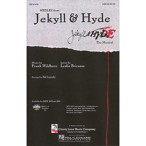 Hal Leonard Jekyll & Hyde (Medley) ShowTrax CD Arranged by Ed Lojeski