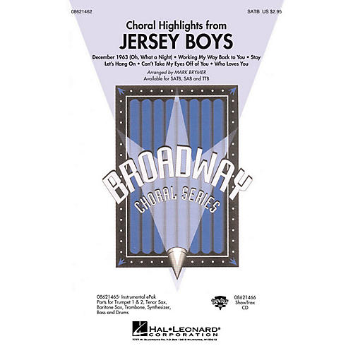 Hal Leonard Jersey Boys (Choral Highlights) ShowTrax CD Arranged by Mark Brymer-thumbnail