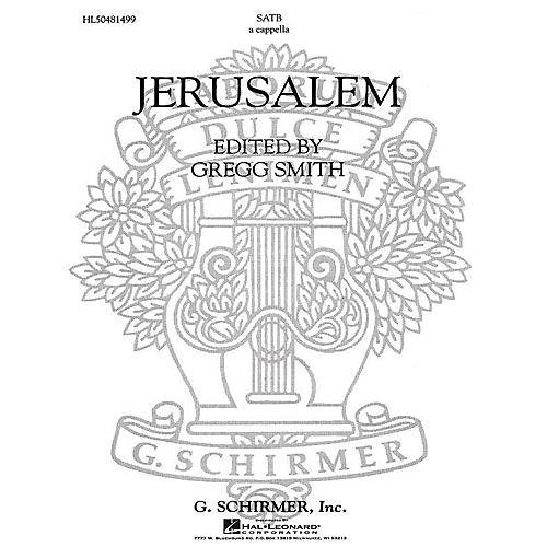 G. Schirmer Jerusalem A Cappella For Chorus With Solo Quartet SATB composed by Gregg Smith-thumbnail
