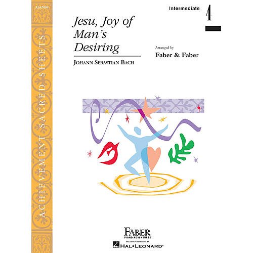 Faber Piano Adventures Jesu, Joy of Man's Desiring Faber Piano Adventures® Series by Johann Sebastian Bach (Level Inter/Level 4)-thumbnail