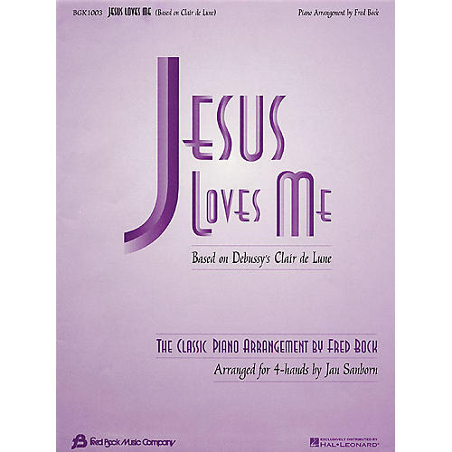 Fred Bock Music Jesus Loves Me (arr. Fred Bock/Jan Sanborn for 4-hand duet) Fred Bock Publications Series-thumbnail