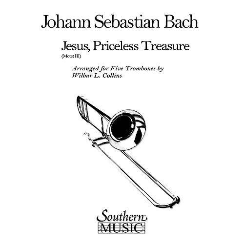 Southern Jesus, Priceless Treasure (Trombone Quintet) Southern Music Series Arranged by Wilbur Collins-thumbnail