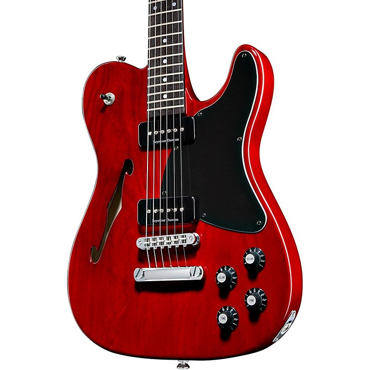 Fender Jim Adkins JA-90 Telecaster Electric Guitar Crimson Transparent