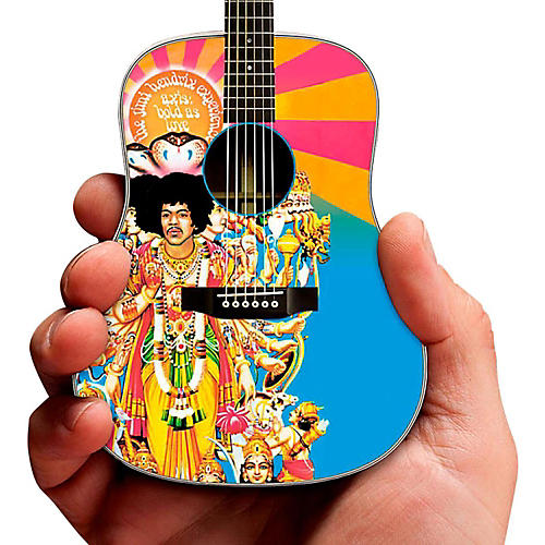 Axe Heaven Jimi Hendrix Axis Bold As Love Acoustic Miniature Guitar Replica Collectible