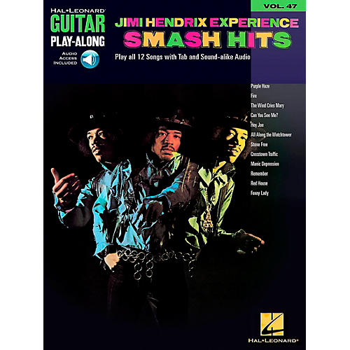 Hal Leonard Jimi Hendrix Experience Smash Hits Play-Along Guitar Tab Songbook with CD