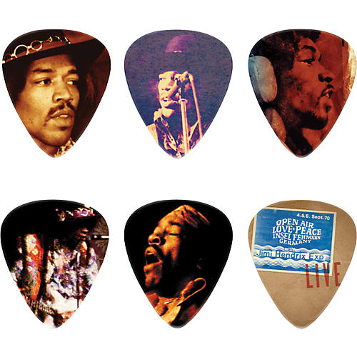 Dunlop Jimi Hendrix Hear My Music Pick Tin with 6 Medium Picks