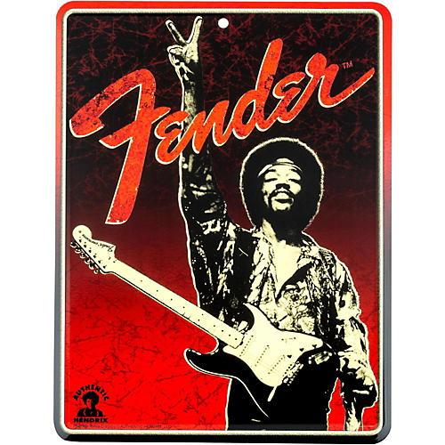 Fender Jimi Hendrix Peace Sign Tin Sign-thumbnail