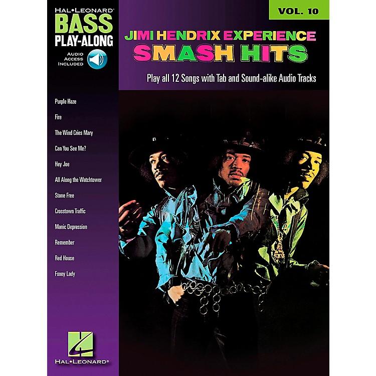 Hal LeonardJimi Hendrix Smash Hits: Bass Play-Along Series, Volume 10 (Book/CD)