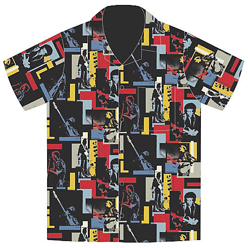 Jimi Hendrix Jimi Hendrix Tiled Men's Woven Shirt-thumbnail