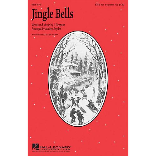 Hal Leonard Jingle Bells SAB optional a cappella Arranged by Audrey Snyder-thumbnail