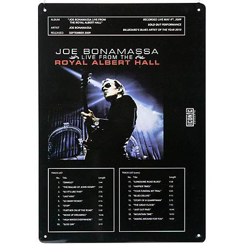 Iconic Concepts Joe Bonamassa Tin Sign - Royal Albert Hall