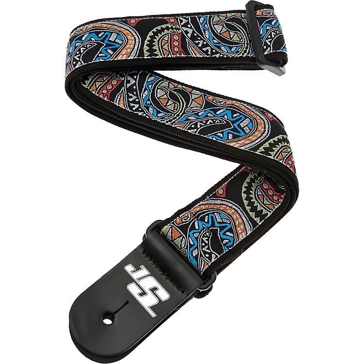 Planet Waves Joe Satriani Nylon Guitar Strap Black/Red/Green Snakes Mosaic
