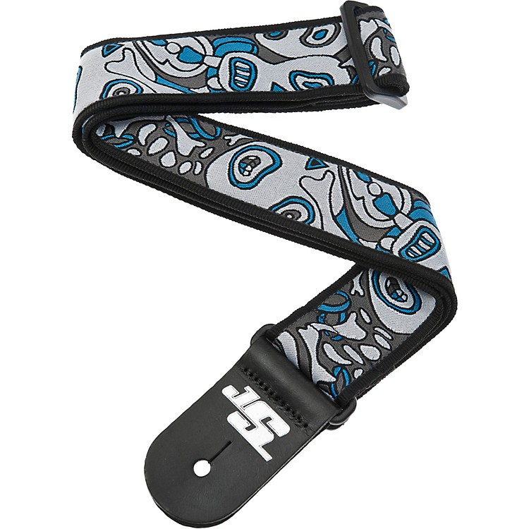 Planet Waves Joe Satriani Nylon Guitar Strap Blue/White Souls of Distortion