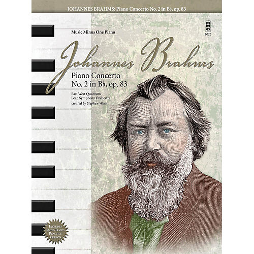 Music Minus One Johannes Brahms - Piano Concerto No. 2 in B-Flat, Op. 83 Music Minus One Book with CD by Johannes Brahms-thumbnail