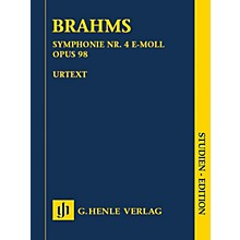 G. Henle Verlag Johannes Brahms - Symphony No. 4 in E minor, Op. 98 Henle Study Scores by Brahms Edited by Robert Pascall