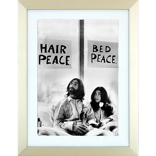 Mirrorpix John Lennon Give Peace a Chance Framed Print
