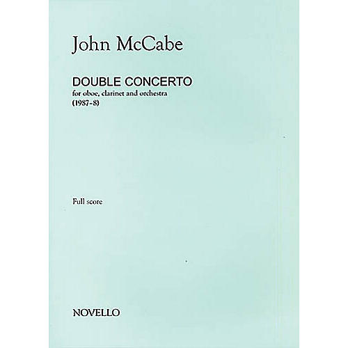 Music Sales John McCabe: Double Concerto For Oboe, Clarinet and Orchestra (Study Score) Music Sales America Series-thumbnail