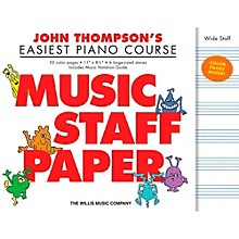 Hal Leonard John Thompson's Easiest Piano Course  Music Staff Paper in Color