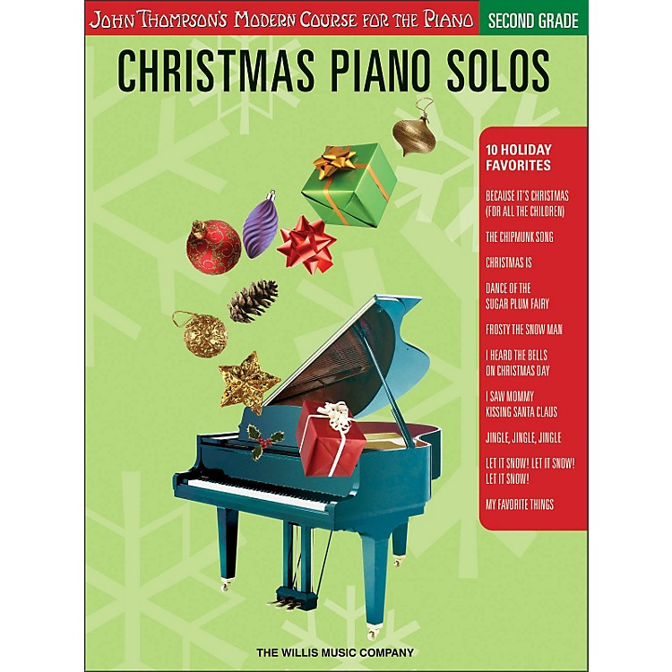 Willis Music John Thompson's Modern Course for Piano - Christmas Piano Solos Second Grade