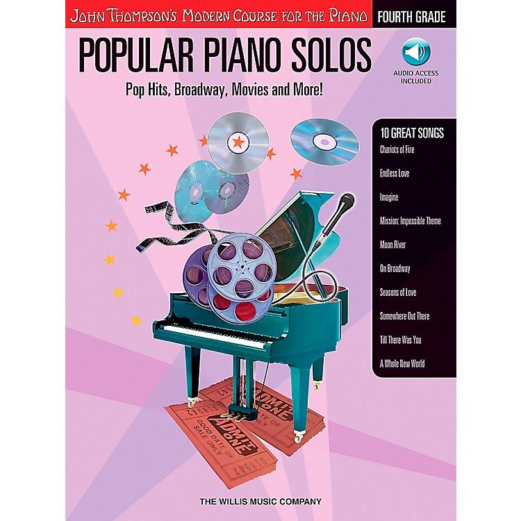 Willis MusicJohn Thompson's Modern Course for Piano - Popular Piano Solos Fourth Grade Book/CD