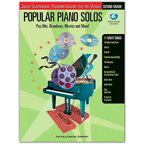 Willis Music John Thompson's Modern Course for Piano - Popular Piano Solos Grade 2 (Book/Online Audio)