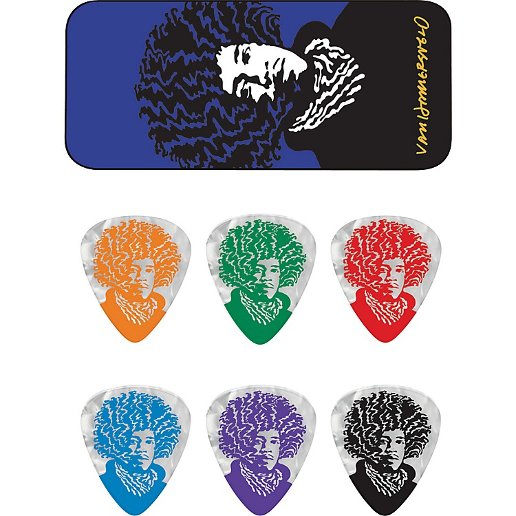 Dunlop John VanHanersvelt Jimi Pick Tin with 6 Picks Medium