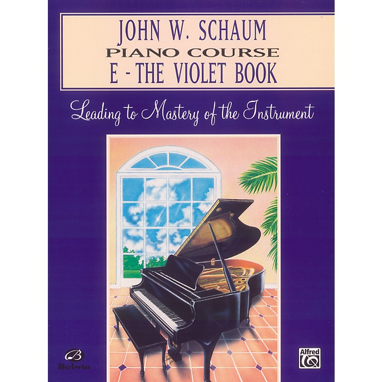 Alfred John W. Schaum Piano Course E The Violet Book