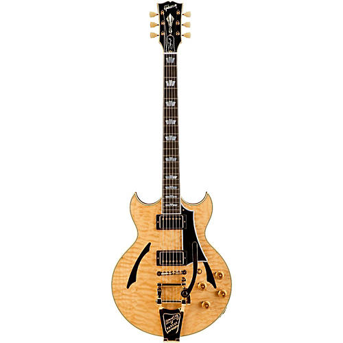 Gibson Custom Johnny A Quilt Top with Bigsby Hollowbody Electric Guitar-thumbnail