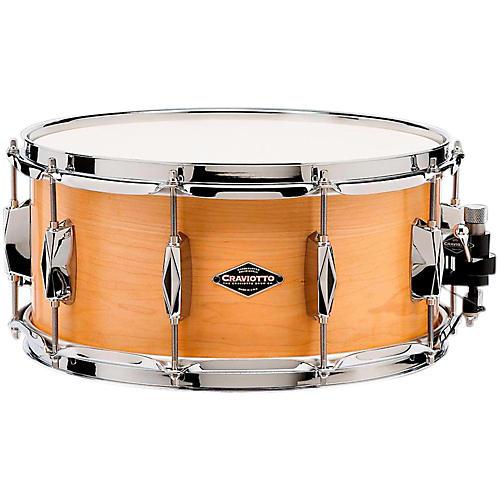 Craviotto Johnny C Solid Maple Snare Drum 14x6.5 Inch