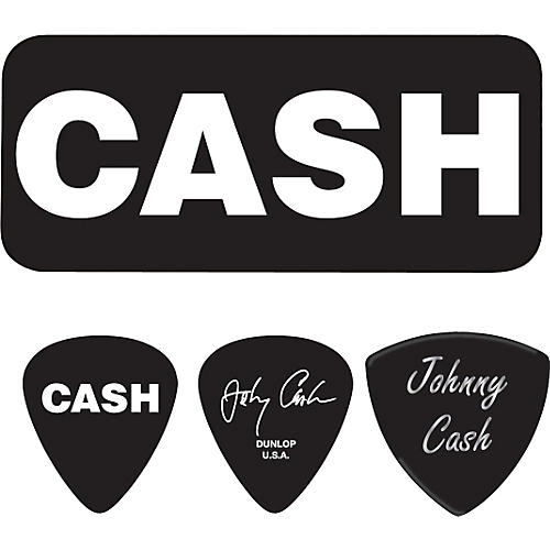 Dunlop Johnny Cash Bold Pick Tin with 6 Picks Medium