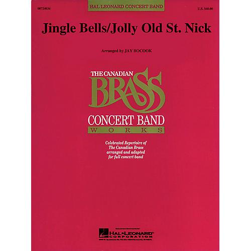 Hal Leonard Jolly Old St. Nick/Jingle Bells Concert Band Level 3 Arranged by Jay Bocook-thumbnail