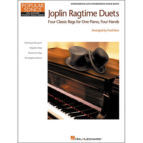 Hal Leonard Joplin Ragtime Duets - Popular Songs Level 5 Intermediate/Late Intermediate Hal Leonard Student Piano Library by Fred Kern