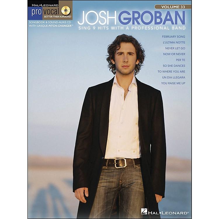 Hal LeonardJosh Groban - Pro Vocal Series for Male Singers Volume 33 Book/CD