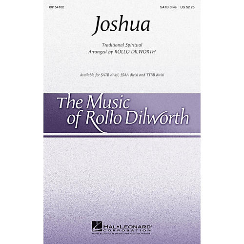 Hal Leonard Joshua SSAA DIVISI Arranged by Rollo Dilworth