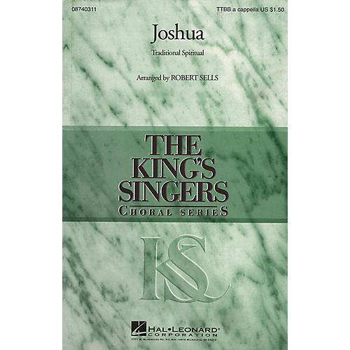 Hal Leonard Joshua TTBB A Cappella by The King's Singers arranged by Robert Sells-thumbnail