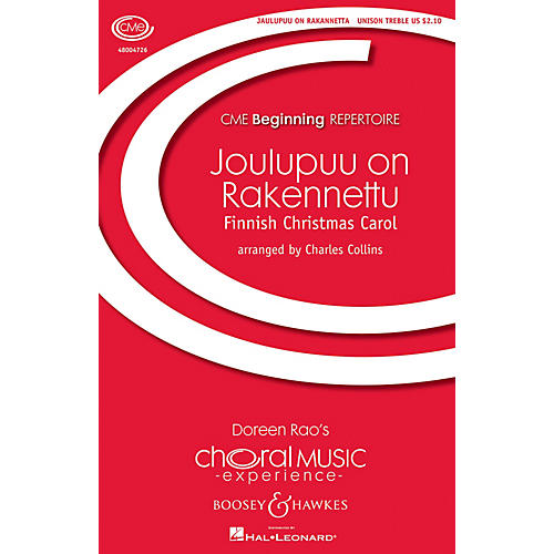 Boosey and Hawkes Joulupuu On Rakennettu (Christmas at the Threshold) Unison Treble arranged by Charles Collins-thumbnail