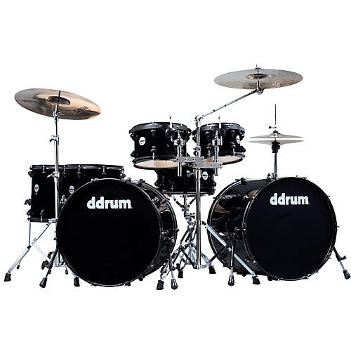ddrum Journeyman Double Down 7-Piece Drum Kit Mid Black