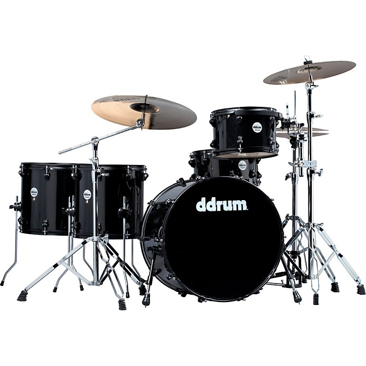 ddrum Journeyman Rambler 5-Piece Drum Kit Midnight Black
