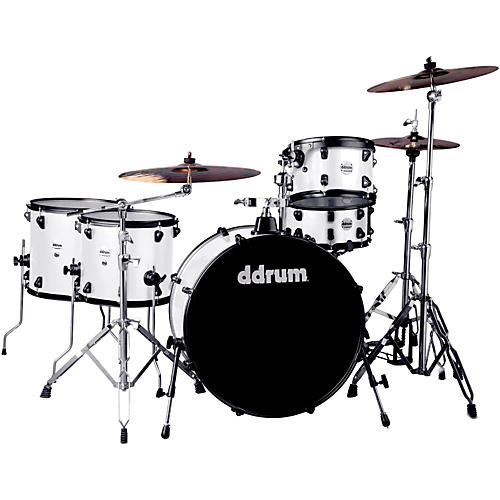 Ddrum Journeyman2 Series Rambler 5-piece Drum Kit with 24 in. Bass Drum White