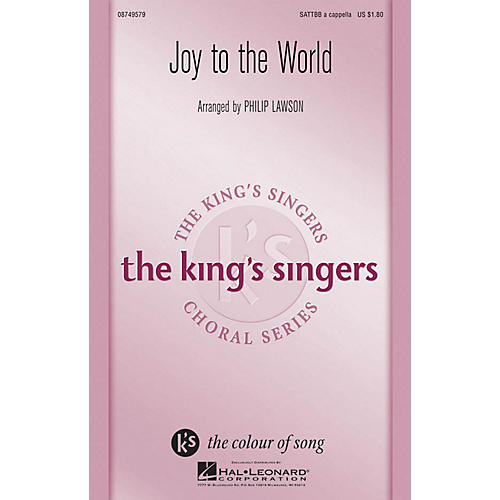 Hal Leonard Joy to the World SATTBB A Cappella by The King's Singers arranged by Philip Lawson-thumbnail